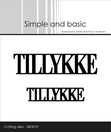 Happymade - Simple and basic - Die - Tillykke (SBD019)